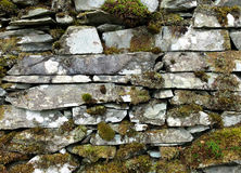 Mossy dry stone wall. Lake District, UK Stock Photos