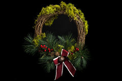 Mossy Holiday Wreath Royalty Free Stock Images