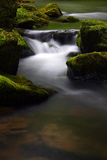 Mossy rocks and water Royalty Free Stock Photography