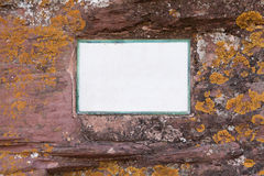Mossy stone. A mossy stone where you can write down your ideas Stock Images