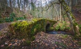 Mossy stone bridge Stock Photography