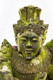 Mossy Stone Statue at Pura Ulun Danu Batur, Bali Stock Images