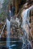 Mossy water fall Stock Photo