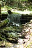 Mossy Waterfall. Hidden mossy waterfall made for a pleasant nature hike Stock Photos