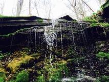 Mossy waterfall Stock Image
