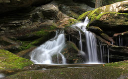 Mossy Waterfall. A small waterfall on the Blue Ridge Parkway Royalty Free Stock Images