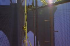 Mostów Brooklyńskich kable Zdjęcie Stock