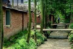 mostów porcelanowy pengzhou kamień Obrazy Royalty Free