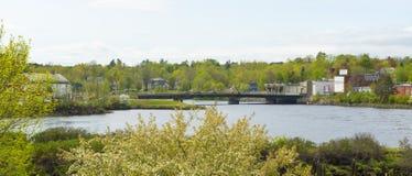Most łączy usa i Kanada, Calais, JA, usa Zdjęcie Stock