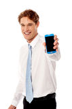 Most advanced smart phone in market ! Stock Photo