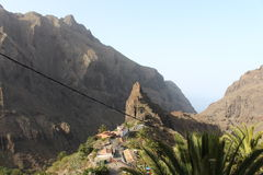 The most amazing, beautiful and breathtaking view, Masca, Tenerife, Spain Royalty Free Stock Photos