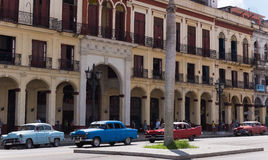 Most american Oldtimer drived on the main street in Havana Cuba. - Serie Kuba 2016 Reportage Stock Photography