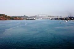 Most Ameryki most nad Panamskim kanałem zdjęcie stock