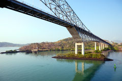 Most Ameryki most nad Panamskim kanałem obraz stock