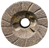 The most ancient granite mill round millstone for a grain crunch Royalty Free Stock Image