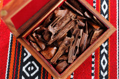 In most Arab countries bukhoor is the name given to scented bricks or wood chips Stock Photos