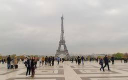 The most attractive place in Paris View to The Eiffel tower from the Trocadero square. Stock Image