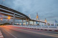 Most, autostrada, droga, światło, Zdjęcie Stock