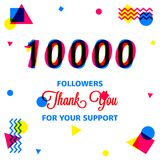 Thanks for our best followers banner, we love you in this illustration. The most awesome friend in my follower, use this banner template in your social media vector illustration