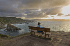 The most beatiful bench in the world. Royalty Free Stock Image