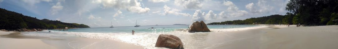 The most beautiful beach of the island of Paslin. On the Seychelles Islands royalty free stock photography