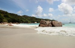 The most beautiful beach of the island of Paslin. On the Seychelles Islands stock photos