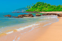 The most beautiful beach. In the tropics Royalty Free Stock Photos