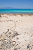 Most beautiful beach and turquoise sea at Crisi island, Crete Royalty Free Stock Photography