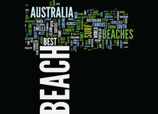 The Most Beautiful Beaches In Australia Text Background Word Cloud Concept vector illustration