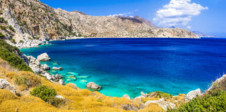 Most beautiful beaches of Greece- Apella in Karpathos island Stock Image