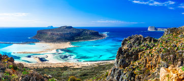 Most beautiful beaches in Greece - Balos bay in Crete island Stock Images