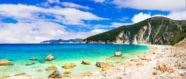 Most beautiful beaches of Greece series - Myrtos in Kefalonia, I Royalty Free Stock Photography