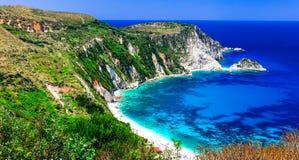 Most beautiful beaches of Greece series - Petani in Kefalonia, I Royalty Free Stock Photo