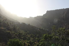 The most beautiful and breathtaking sunrise in the Masca, Tenerife, Spain Stock Photo