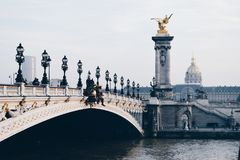 Pont Alexandre III, Paris France 2017 royalty free stock photography