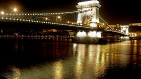 The most beautiful bridges of Budapest Royalty Free Stock Photos