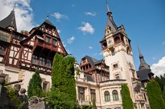 Most beautiful castle in Romania Royalty Free Stock Images