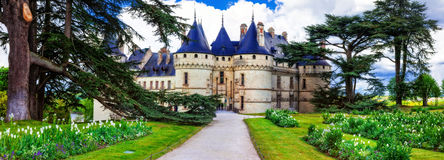 Most beautiful castles of Europe - Chaumont-sur-Loire, Loire val Royalty Free Stock Images