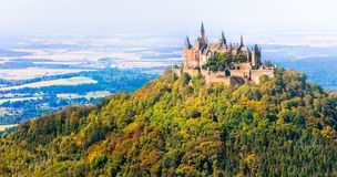 Most beautiful castles of Europe - Hohenzoller. Germany Stock Photography