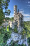 Most beautiful castles of Europe - Lichtenstein . Germany. Most beautiful castles of Europe - Lichtenstein Germany Royalty Free Stock Images