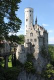 Most beautiful castles of Europe - Lichtenstein . Germany. Most beautiful castles of Europe - Lichtenstein Germany Royalty Free Stock Photography
