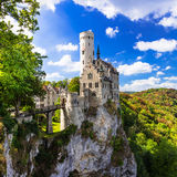 Most beautiful castles of Europe - Lichtenstein . Germany Royalty Free Stock Photos