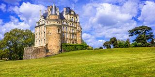 Most beautiful castles of France series -Chateau de Brissac in L Stock Photo