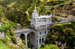 Sanctuary Las Lajas in Colombia stock photo