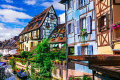 Most beautiful colorful towns - Colmar in Alsace, France Royalty Free Stock Images