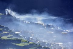 The most beautiful country in China. In the most beautiful country in China, in the Tibetan area Stock Images