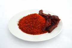 Most beautiful flake pepper visual stock pictures on white background Royalty Free Stock Photography
