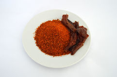 Most beautiful flake pepper visual stock pictures on white background Stock Image
