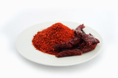 Most beautiful flake pepper visual stock pictures on white background Royalty Free Stock Photos