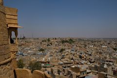 The golden city of Jaisalmer in the Rajasthan, India stock photos